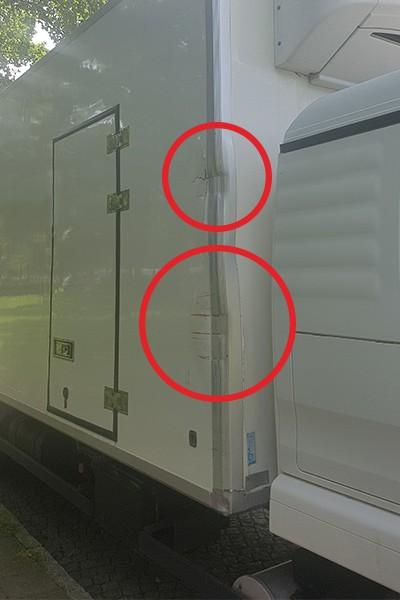 Schaden am LKW - Kfz Gutachter