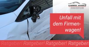 Unfall mit dem Firmenwagen - Ratgeber