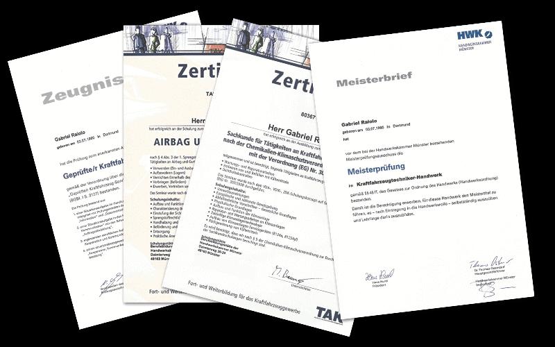 Gabriel Raiolo Zertifikate Bescheinigungen Gutachter Hamburg op - Home