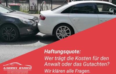 Haftungsquote 400x255 - Parkrempler: So verhalten Sie sich als Geschädigter oder Verursacher am Unfallort richtig!