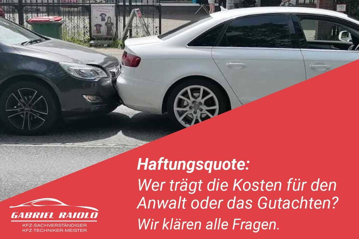 Haftungsquote - Haftungsquote nach Verkehrsunfall: Zu 100 % schuldig oder nicht?