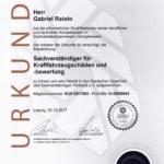 Kfz Gutachter Raiolo - DGSV Urkunde