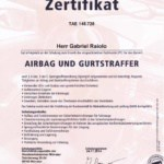 Kfz Gutachter Raiolo - Zertifikat TAK Airbag