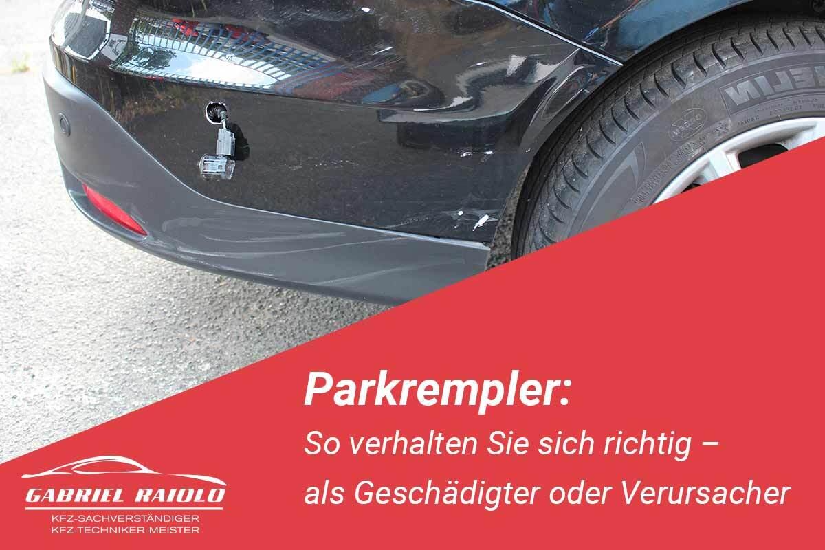 Parkrempler - Parkrempler: So verhalten Sie sich als Geschädigter oder Verursacher am Unfallort richtig!
