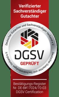 Siegel DGSV Kfz Gutachter Raiolo Hamburg 197x320 - Kfz Gutachter Hamburg LP