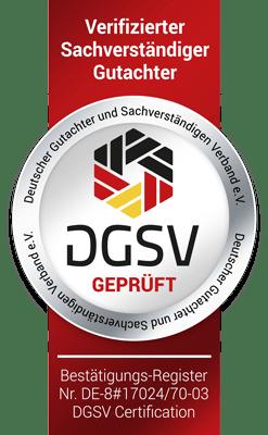 Siegel DGSV Kfz Gutachter Raiolo Hamburg - Kfz Gutachter Norderstedt
