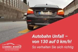 autobahn unfall 300x200 - Parkrempler: So verhalten Sie sich als Geschädigter oder Verursacher am Unfallort richtig!