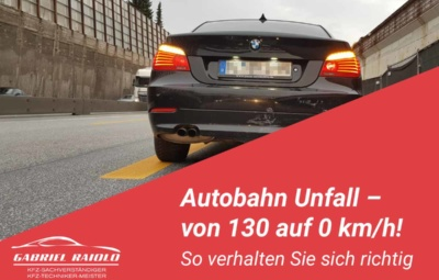 autobahn unfall 400x255 - Parkrempler: So verhalten Sie sich als Geschädigter oder Verursacher am Unfallort richtig!