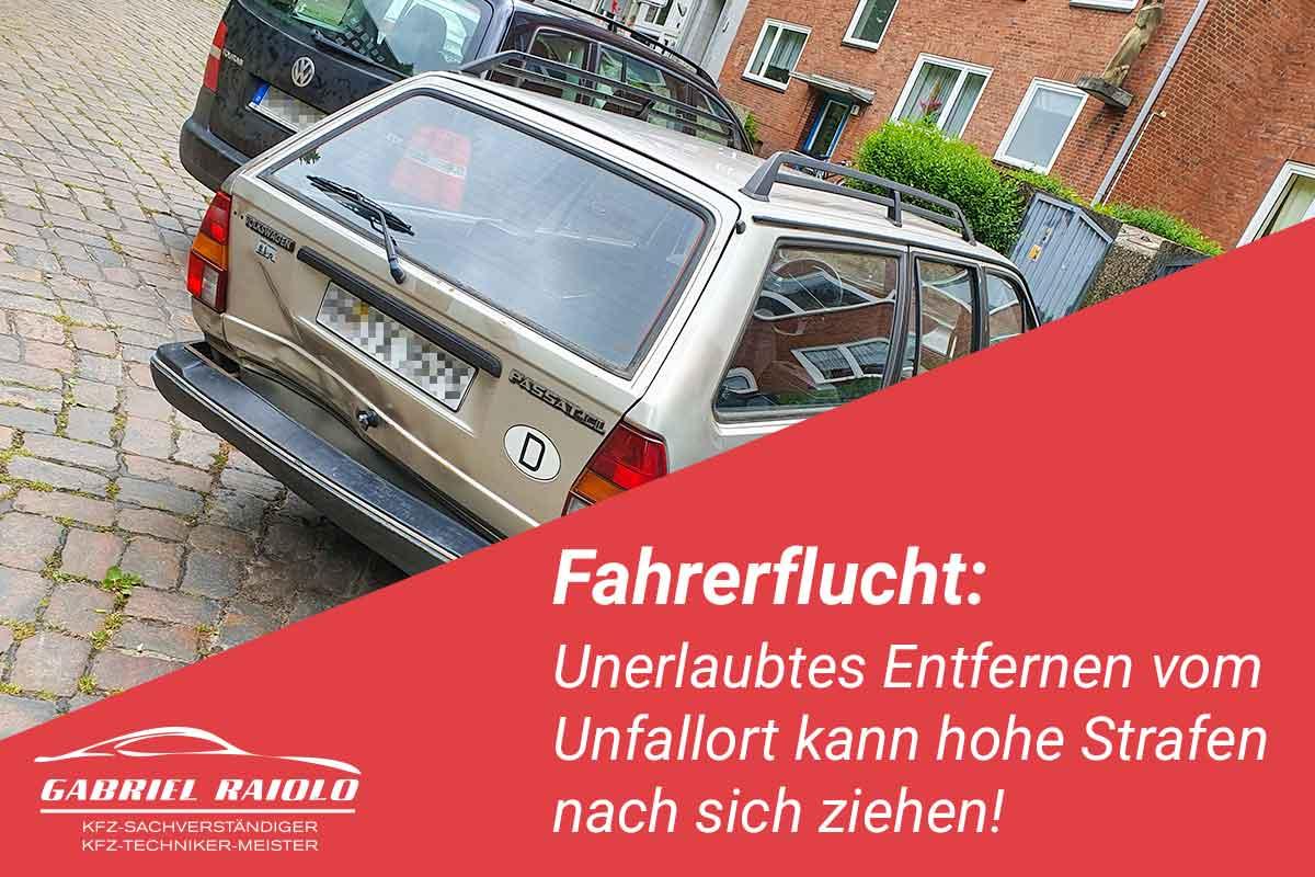 fahrerflucht - Fahrerflucht: Unerlaubtes Entfernen vom Unfallort kann hohe Strafen nach sich ziehen!