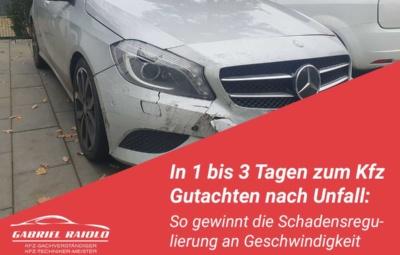 gutachten nach unfall 400x255 - Parkrempler: So verhalten Sie sich als Geschädigter oder Verursacher am Unfallort richtig!