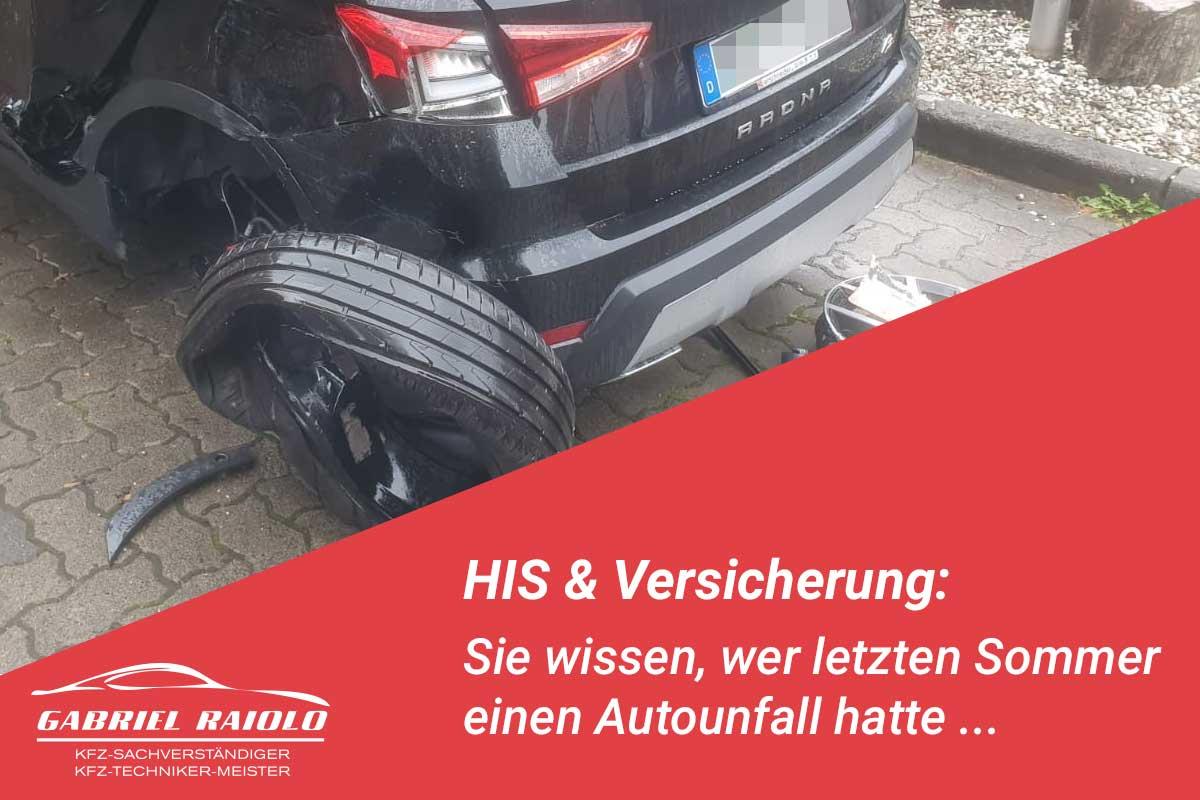 his versicherung - HIS & Versicherung: Sie wissen, wer letzten Sommer einen Autounfall hatte ...