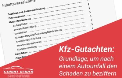 kfz gutachten 400x255 - Auffahrunfall - Abwicklung, Kosten und mehr im Überblick