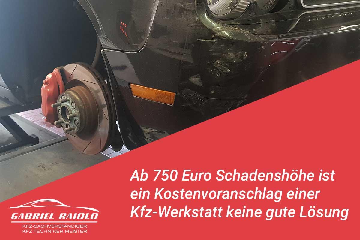 kostenvoranschlag werkstatt - Ab 750 Euro Schadenshöhe ist ein Kostenvoranschlag einer Kfz-Werkstatt keine gute Lösung