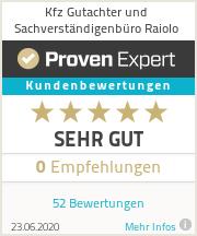 Erfahrungen & Bewertungen zu Kfz Gutachter und Sachverständigenbüro Raiolo