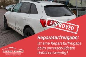 reparaturfreigabe 300x200 - Kfz Gutachten: Grundlage, um nach einem Autounfall den Schaden zu beziffern