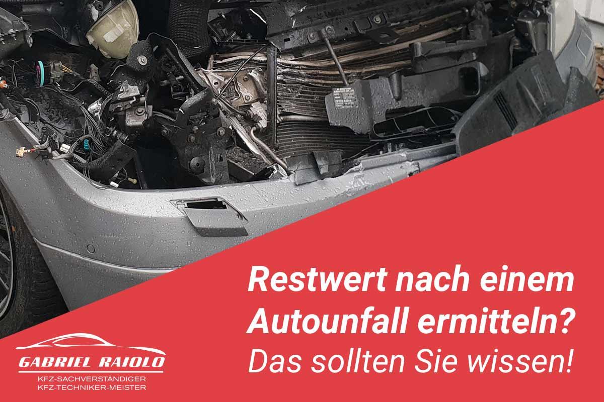 restwert auto - Restwert nach einem Autounfall ermitteln? Das sollten Sie wissen!