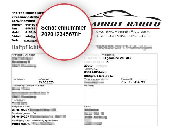 schadennummer Beispiel Doc - Schadennummer: Wichtige Zahlenfolge für die Regulierung nach einem Unfall!