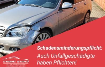 schadensminderungspflicht unfall 400x255 - Parkrempler: So verhalten Sie sich als Geschädigter oder Verursacher am Unfallort richtig!