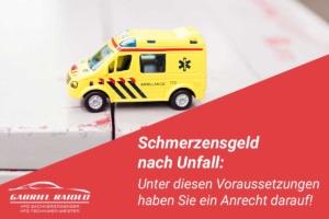schmerzensgeld nach unfall 300x200 - Auffahrunfall - Abwicklung, Kosten und mehr im Überblick
