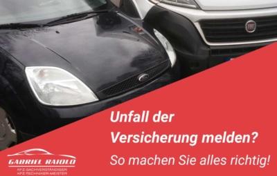 unfall versicherung melden 400x255 - Kfz Gutachten: Grundlage, um nach einem Autounfall den Schaden zu beziffern
