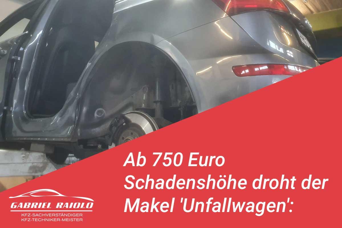 unfallwagen - Ab 750 Euro Schadenshöhe droht der Makel 'Unfallwagen': Das sollten Sie wissen