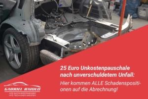 unkostenpauschale 300x200 - Unfallschaden auszahlen lassen zu 100%? Es gibt keinen Automatismus für eine Reparatur!