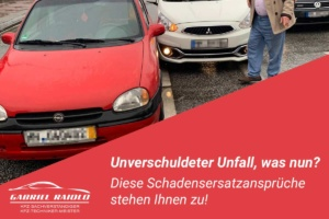 unverschuldeter unfall 300x200 - Parkrempler: So verhalten Sie sich als Geschädigter oder Verursacher am Unfallort richtig!