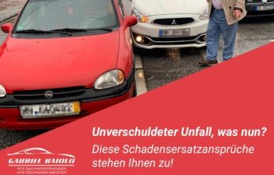 unverschuldeter unfall 400x255 - Parkrempler: So verhalten Sie sich als Geschädigter oder Verursacher am Unfallort richtig!