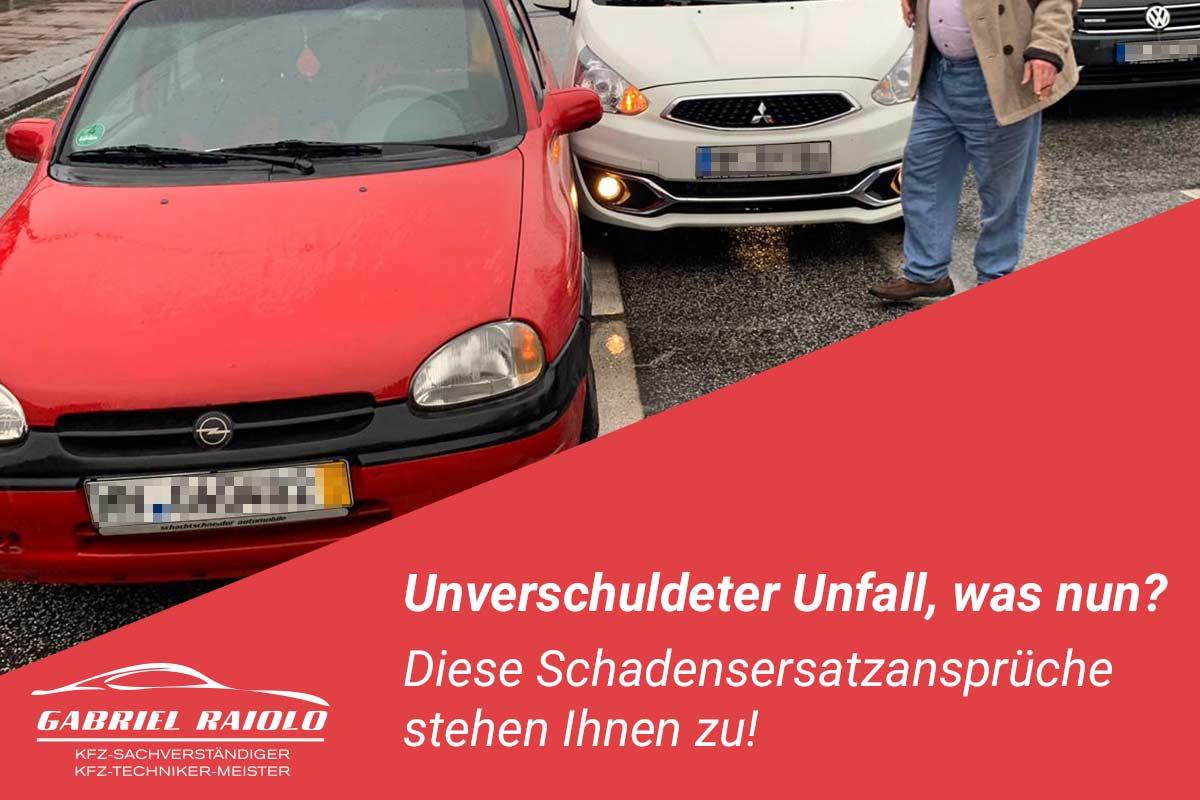 unverschuldeter unfall - Unverschuldeter Unfall, was nun? Diese Schadensersatzansprüche stehen Ihnen zu!