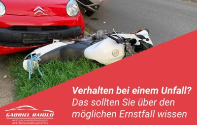 verhalten bei unfall 400x255 - Kfz Gutachten: Grundlage, um nach einem Autounfall den Schaden zu beziffern