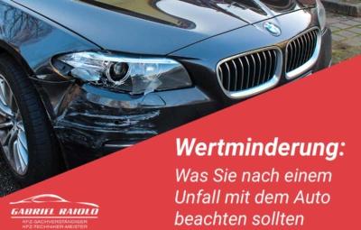 wertminderung auto gutachten hamburg 400x255 - Parkrempler: So verhalten Sie sich als Geschädigter oder Verursacher am Unfallort richtig!
